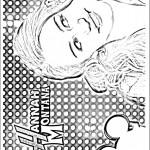 דף צביעה האנה מונטנה 14