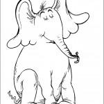 דף צביעה הפיל הורטון 11