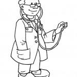 דף צביעה מקצועות - רופא 4