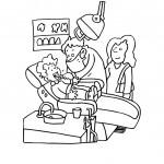 דף צביעה מקצועות - רופא שיניים 3