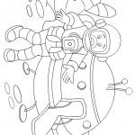 דף צביעה מקצועות - אסטרונאוט