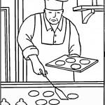 דף צביעה מקצועות - טבח 3