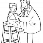 דף צביעה מקצועות - רופא 3
