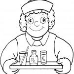 דף צביעה מקצועות - אחות 3