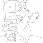 דף צביעה מקצועות - אחות 2