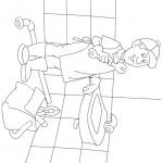דף צביעה מקצועות - שרברב 3
