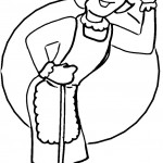 דף צביעה מקצועות - עוזרת בית