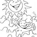 דף צביעה חופשת קיץ 4