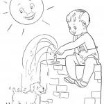 דף צביעה חופשת קיץ 13