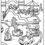 דף צביעה פארק שעשועים 3
