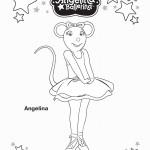 דף צביעה אנג'לינה בלרינה 6