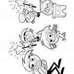דף צביעה קסם של הורים 7