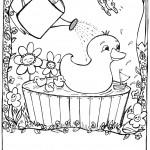 דף צביעה ברווז אוהב מים