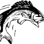 דף צביעה דג מקפץ מעל המים