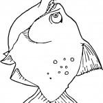 דף צביעה דג עם שיניים 2