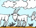 לחצו על דפי הצביעה של עזים להגדלה ולהדפסה