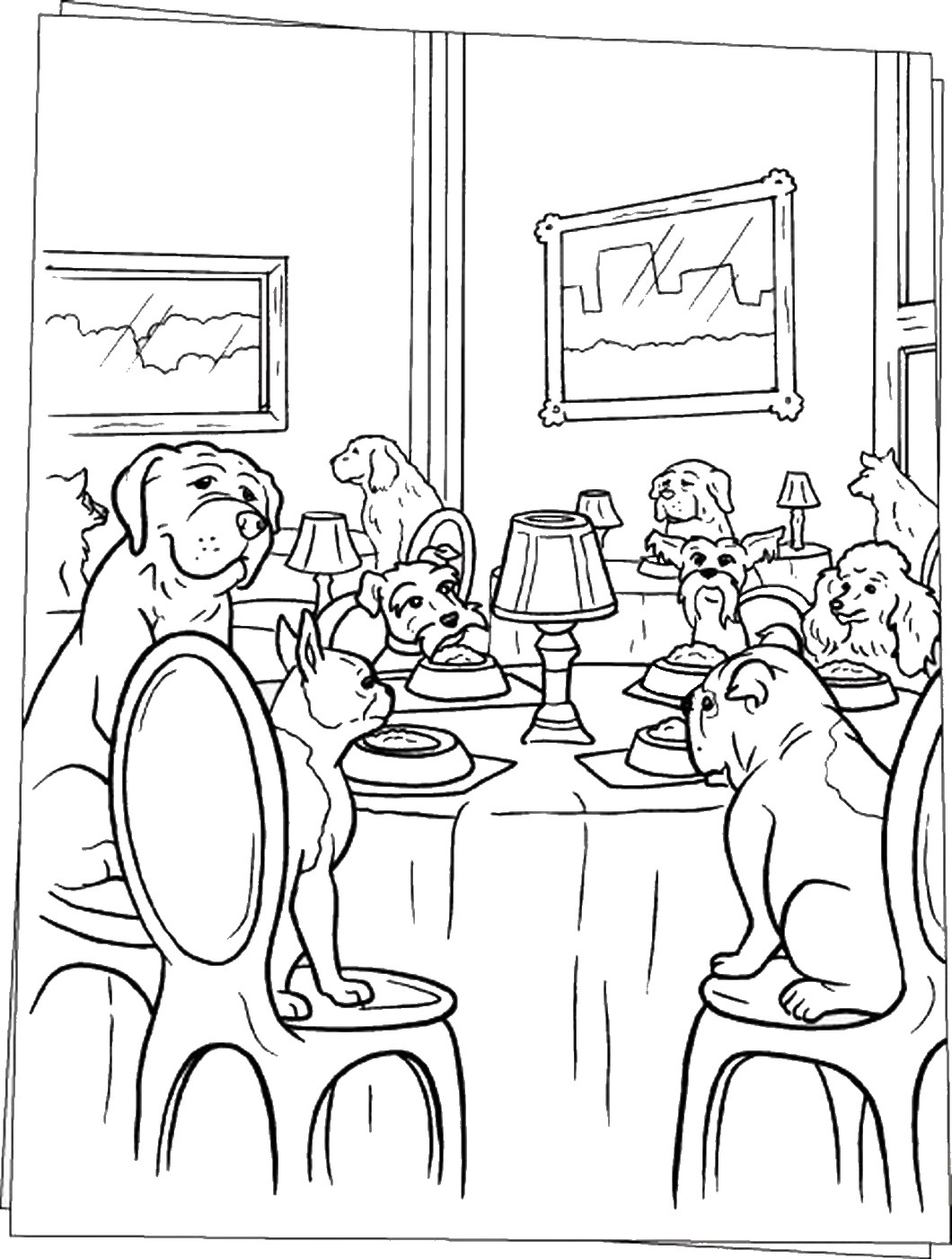 coloring pages hotel - photo#18