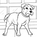 דף צביעה הכלב פריידי