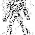 דף צביעה איירון מן 51