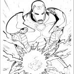 דף צביעה איירון מן 47