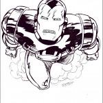 דף צביעה איירון מן 42