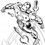 דף צביעה איירון מן 40