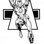 דף צביעה איירון מן 34