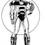 דף צביעה איירון מן 33