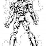 דף צביעה איירון מן 32