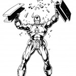 דף צביעה איירון מן 29