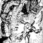 דף צביעה איירון מן 23