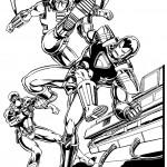 דף צביעה איירון מן 22