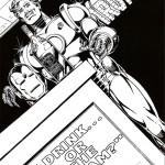 דף צביעה איירון מן 15