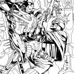 דף צביעה איירון מן 5