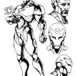 דף צביעה איירון מן 54