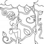 דף צביעה ג'ק מטפס על גבעול האפונים 4