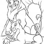 דף צביעה משפחת אריות