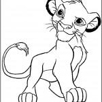 דף צביעה גור אריות חמוד
