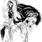 דף צביעה אריה שואג 2