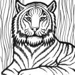 דף צביעה אריה בין השיחים