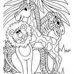 מפגש בין אריה לג'ירפות