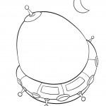 דף צביעה ספינת החלל 5