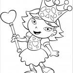 דף צביעה הנסיכה אנני