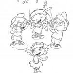 דף צביעה תזמורת חבורת איינשטיין