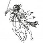 דף צביעה שר הטבעות - אראגורן