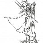 דף צביעה שר הטבעות -  לגולס