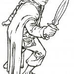 דף צביעה שר הטבעות  -ההוביט סם