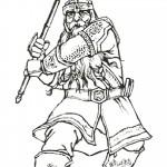 דף צביעה גימלי לוחם אמיץ חבר באחוות הטבעת