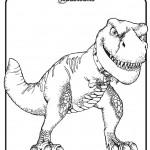 דף צביעה טייני הדינוזאור 1