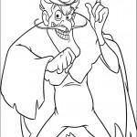 דף צביעה האיש עם המגבעת 2